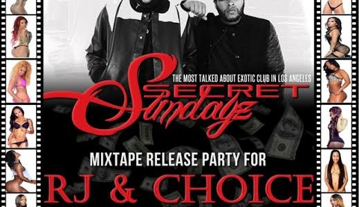 SUNDAY JANUARY 11, 2015: SECRET SUNDAYz RJ & CHOICE MIXTAPE RELEASE PARTY