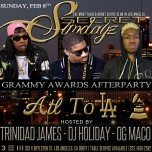 SUNDAY FEBRUARY 8, 2015: SECRET SUNDAYz GRAMMY AWARDS AFTER PARTY