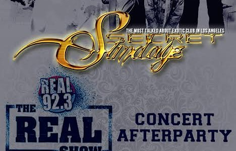 SUNDAY NOV. 8, 2015 SecretSundayz REAL 92.3 CONCERT AFTER-PARTY