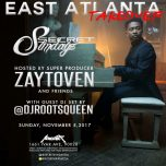SUNDAY Nov 5, 2017 SecretSundayz Complexcon After-Party Live w/ Zaytoven